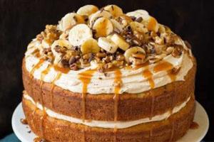 торт банан-карамель