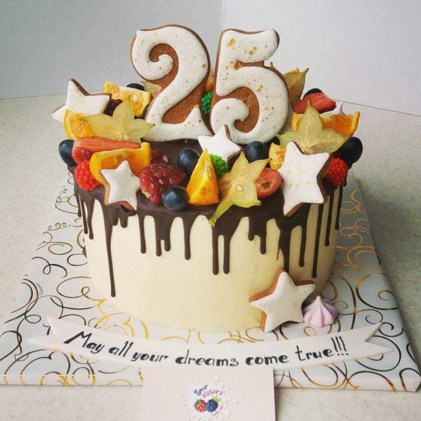 25 лет торт