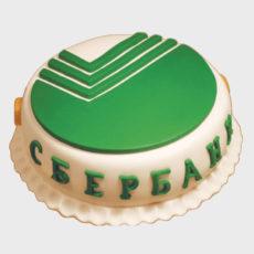 торт с логотипом