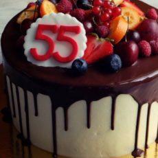 торт на 55 лет мужяине