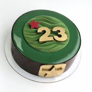 prostoy tort na 23 fevralya 300x300 Торты, выпечка на заказ от пекарни & кондитерской Бон Бриошь