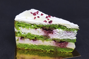 ШПИНАТНЫЙ С МАЛИНОЙ Торт в наличии от Бон Бриошь